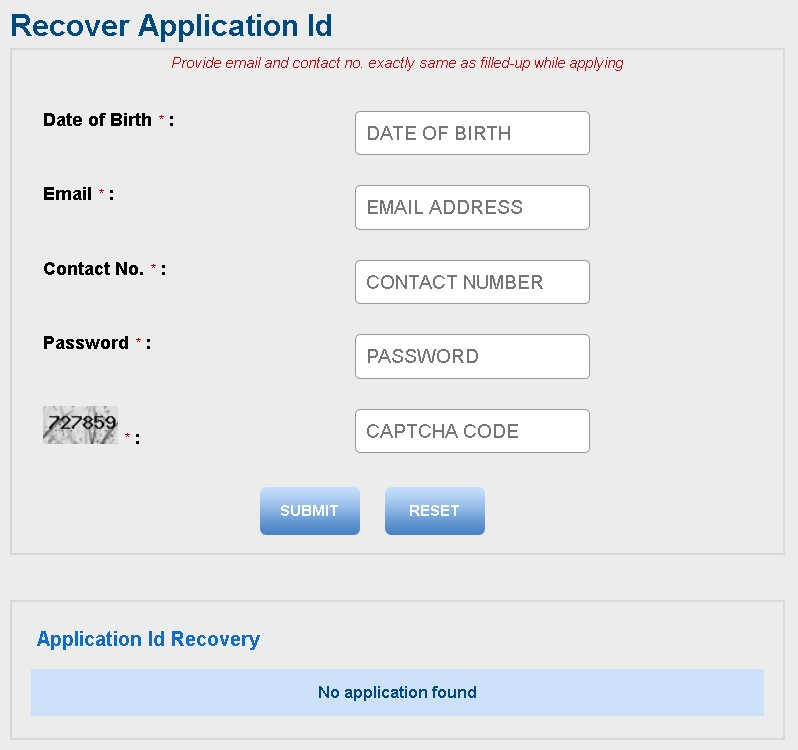 WBUTTEPA Recover Application ID